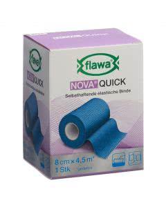 Flawa Nova Quick selbsthaftende elastische Binde blau - 8cm x 4.5m