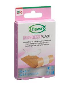 Flawa Sensitive Plast Schnellverband hautfarbig assortiert - 10 x 6cm x 10cm