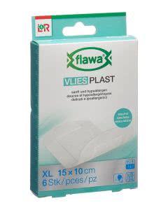 Flawa Vlies Plast 10 x 15cm - 6 Stk.