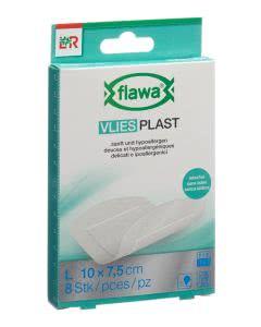 Flawa Vlies Plast 7.5 x 10cm - 8 Stk.