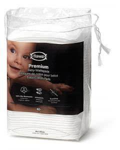 Flawa Premium Baby-Wattepads - 40 Stk.
