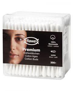 Flawa Premium Wattestäbchen - 200 Stk.