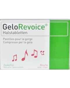GeloRevoice trockener Hals / Hustenreiz - Kirsche Menthol - 3x20 Lutschtabl.