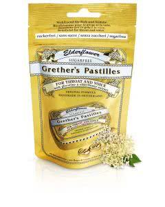 Grethers Pastillen o. Z. Holunderblüten - Nachfüllung - 100g