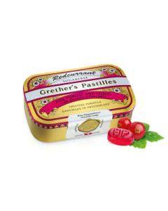 Grethers Pastillen o. Z. rote Johannisbeeren/Redcurrant - Dose - 110g