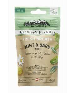 SwissHerbs Grethers Pastillen - Fresh Breath - Minze Salbei - 45g