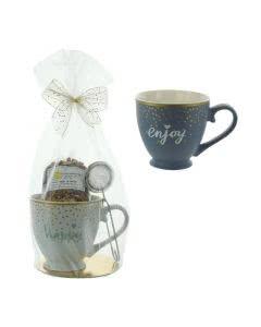 Herboristeria Geschenkset Lichtzauber-Tee mit  Tasse und Teesieb - 1 Set