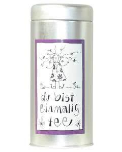 Herboristeria Du-Bist-Einmalig-Tee in Aludose mit Kunst-Etikette - 90g