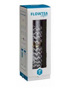 Herboristeria Flowtea/Eigenart Glasflasche White-Gold mit Neopren (braun) - 350ml
