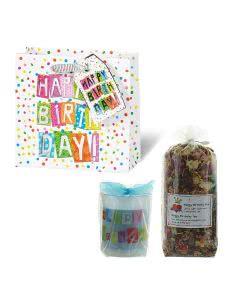 Herboristeria Geschenk-Tasche - Happy Birthday - Tee und Kerze