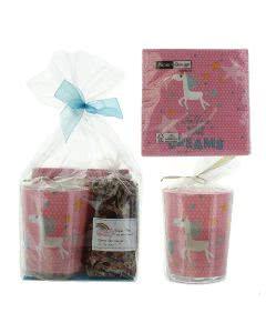 Herboristeria Geschenkset-  Ambiance Traum-Tee - Kerze - Servietten