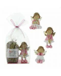Herboristeria Geschenk-Set Engel-Tee mit rosa Glitzer-Engel