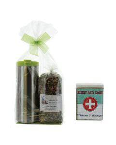 Herboristeria Wander-Tee Set mit Tee - Pflasterdose - zak! Thermobecher grün