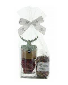 Herboristeria Geschenk-Set Christmas Tea mit Leonardo-Glas 'Loop' und Teesieb Elch