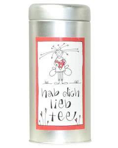 Herboristeria Hab-Dich-Lieb-Tee in Aludose mit Kunst-Etikette - 30g