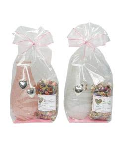 Herboristeria Geschenkset Vase - 1 Stk. rosa/transparent