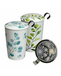 Herboristeria Tee-Tasse Trees mit Sieb by Eigenart - grün oder blau