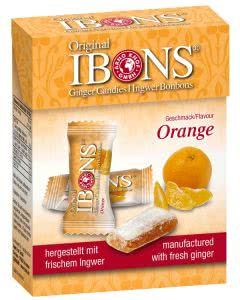 Piniol Display Ingwer Bonbon Orange - 12x60g