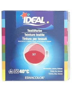 Ideal (Eswacolor) Kleiderfarben MAXI  Color No.37 hermesrot für 400 - 800g Stoff