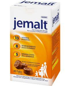 Jemalt 13 8+5 Vitamine und Mineralstoffe - Tabs 40 x 7,5g