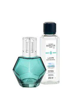 Maison Berger Lampe 4715 - Set Geometry Blau und Duft Erfrischende Ozeanbrise