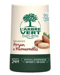 L'Arbre Vert Öko Deo Roll on Argan Hamamelis - 50 ml
