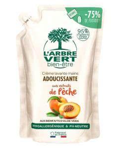 L'Arbre Vert Nachfüllbeutel Öko Handseife Bio Pfirsich - 300 ml