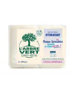 L'Arbre Vert Öko Seife Empfindliche Haut 100 g - 2 Stk.