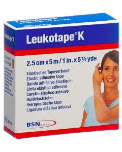 Leukotape K hautfarben - 2.5cm x 5m - 1 Stk.