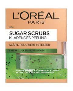 L'Oreal Dermo Expertise Smooth Sugar Scrub Maske - klärendes Kiwi - 50ml