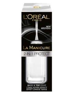 L'Oreal La Manicure 2-in-1 Protect - Base and Top-Coat - 5ml