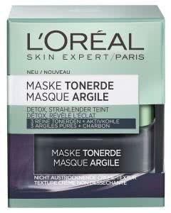 L'Oreal Skin Expert Tonerde-Maske - Detox Aktivkohle - 50ml