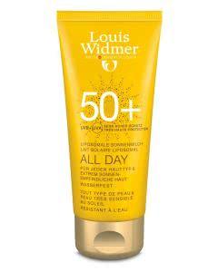 Louis Widmer - ALL DAY 50+ Sonnenschutz unparfumiert - 100ml Tube