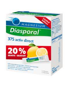 Magnesium Diasporal Activ Limited Edition Direct Zitrone à 20 Sticks + 4 Sticks Gratis