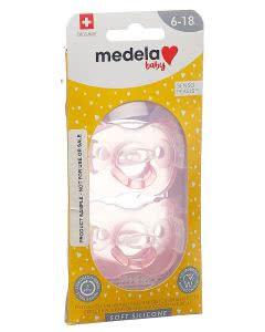 Medela Baby Schnuller Soft Silicone 6-18 Monate Girl