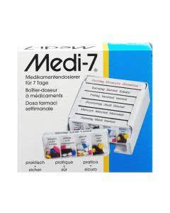 Medi-7 Medikamentendosierer weiss - 7 Tage / 7 Fächer