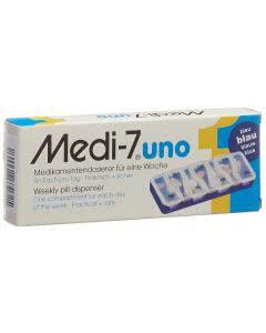 Medi-7 Medikamentendosierer uno 7 Tage blau - 1 Set
