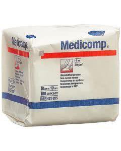 Medicomp Vlieskompressen unsteril 10 x 10cm - 100 Stk.