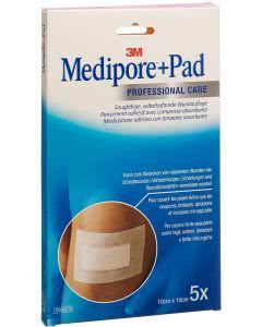 3M  Medipore Pad 15cm x 10cm - 5 Stk. à 5 x 10.5cm