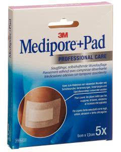 3M  Medipore Pad 5cm x 7.2cm - 5 Stk. à 2.8 x 3.8cm