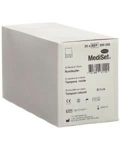 Mediset Rundtupfer 3cm steril - 30 Beutel à 3 Stk.