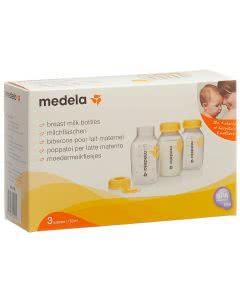 Medela Milchflasche 150ml inkl. Deckel mit Einlage - 3 Stück