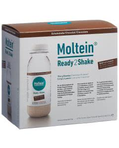 Moltein Ready2Shake Schokolade - 6 x 24g