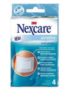 3M Nexcare Sensitive Skin Pads - 4 Stk. à 76.2mm x 101mm