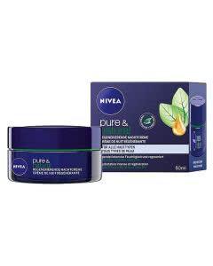 Nivea Pure & Natural Regenerierende Nachtcreme - 50 ml