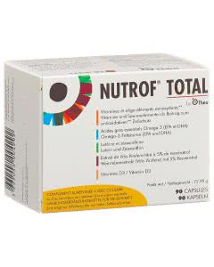 Nutrof Total Vitamine, Spurenelemente, Omega 3 - 90 Kaps.