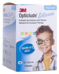 3M Opticlude Silicon Augenpflaster Maxi Boys - 50 Stk. à 5.7cm x 8cm