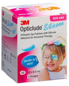 3M Opticlude Silicon Augenpflaster Mini Girls - 50 Stk. à 5cm x 6cm
