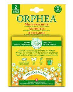 Orphea Mottenschutz Aufhänger mit Blütenduft - 2 Stk.