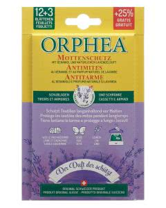 Orphea Mottenschutz Blätter mit Lavendelduft - 12+3 Stk.